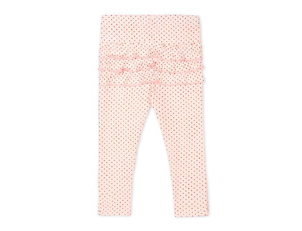 Legging roze rose bolletjes rug